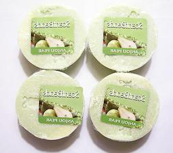 Wax Melts, Anjou Pear Scent, Round, Lot of 4